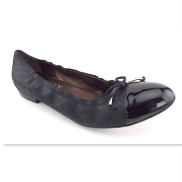 8cca734efe Attilio Giusti Leombruni Shoes | New Agl Black Shimmer Leather Bow ...